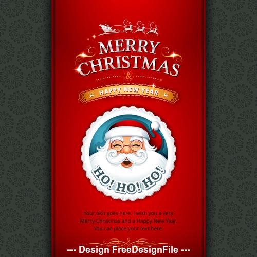 Santa New Year greeting card cover vector