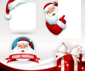 Santa and blank text vector
