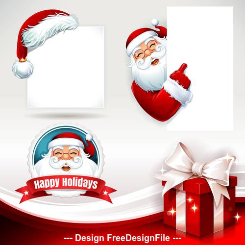 Santa and blank text vector