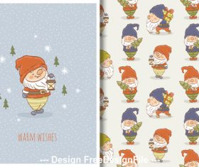 Santa and cartoon background vector