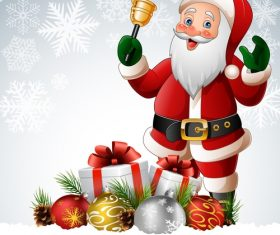 Santa claus cartoon and gift vector