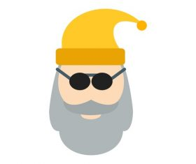 Santa claus icon vector with sunglasses