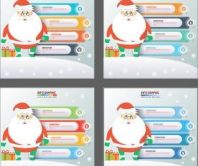 Santa claus infographics design vector