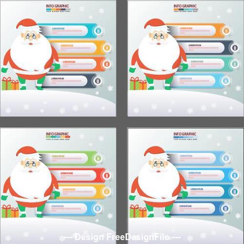 Santa claus infographics design vector