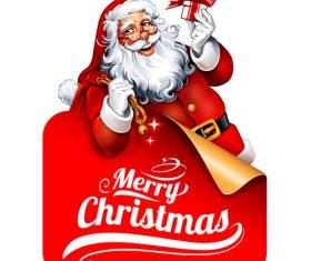 Santa frame vector