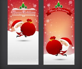 Santa greeting card banner vector