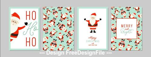 Santa greeting card banner vector