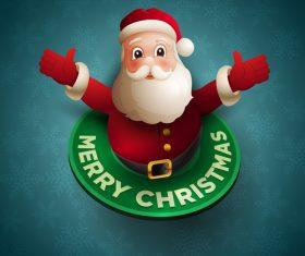 Santa hug vector