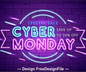 Save up to 50% off neon billboard vector