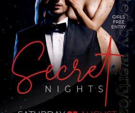 Secret Nights Flyer PSD Template