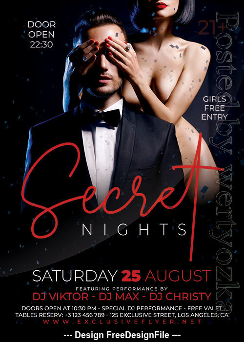 Secret Nights Flyer PSD Template