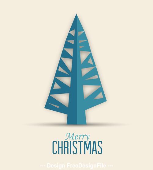 Silhouette christmas tree vector