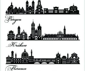 Silhouette cities building vector