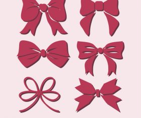 Silhouette red ribbon vector
