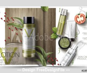 Skincare magazine vector templat