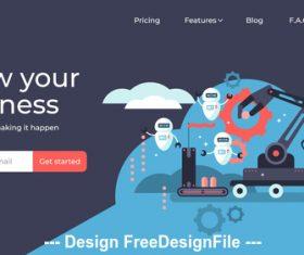 Smart business development flat illustration vector