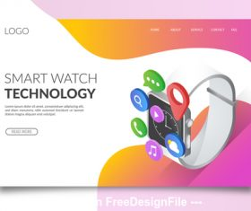 Smart watch cartoon illustration vector