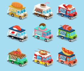 Snack food sale cart vector