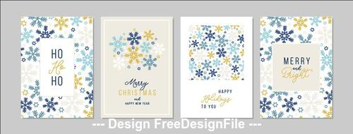 Snowflakes background christmas greeting card collection vector