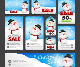 Snowman background christmas sale card vector