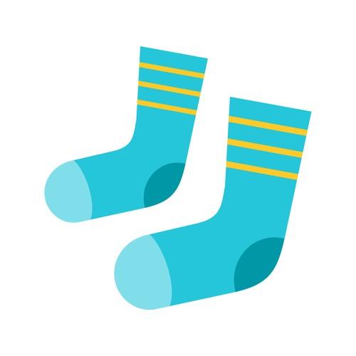 Socks icon vector