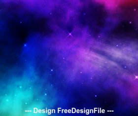Space stardust background vector
