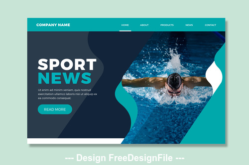 Sports page illustration template vector