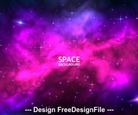 Stardust space background vector