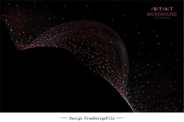 Starry background modern dark dynamic waving effect vector