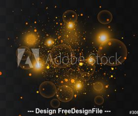 Stars glare elements vector
