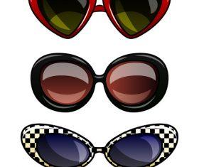 Sunglasses cartoon vector