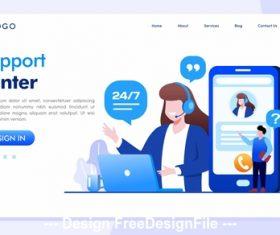 Support center internet technology vector