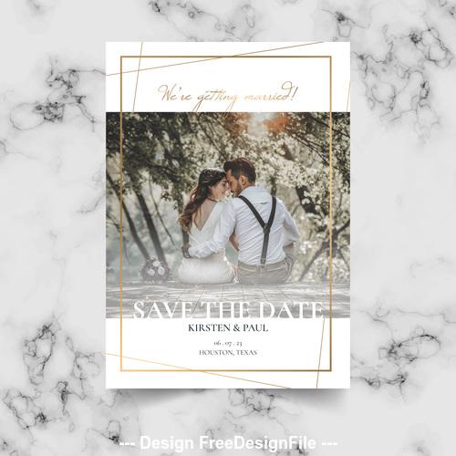 Sweet wedding photo Template vector