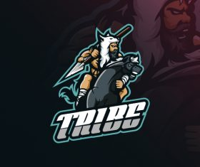 TRIBE logo design vector