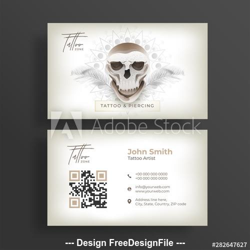 Tattoo artist business cards vector