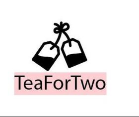 Tea for two logo template vector