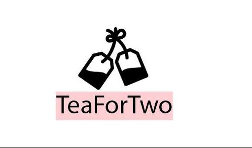 Tea for two logo template vector