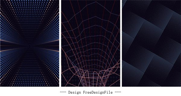 Technology abstract backgrounds dark modern dynamic vector