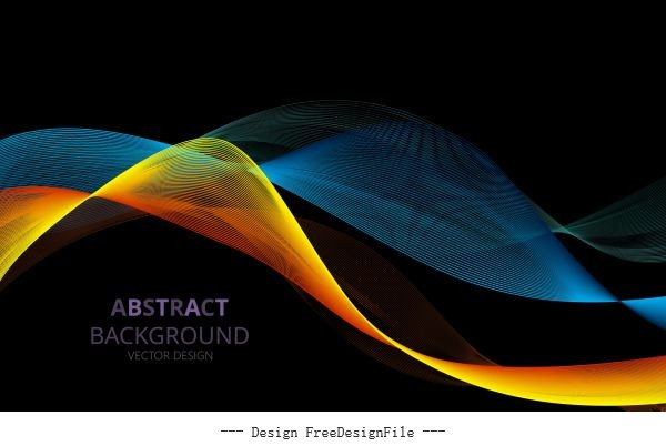Technology background 3d dynamic waving vector