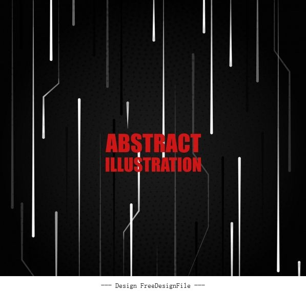 Technology background dark vertical dynamic lines vector