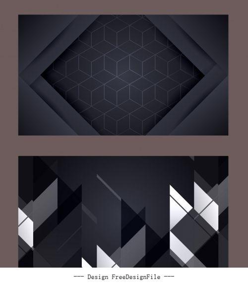 Technology background modern dark geometric abstract vector