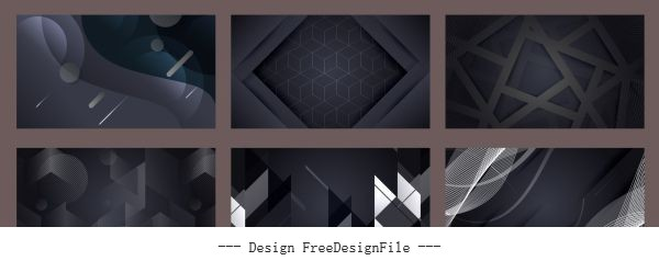 Technology background templates abstract dynamic dark shiny vector