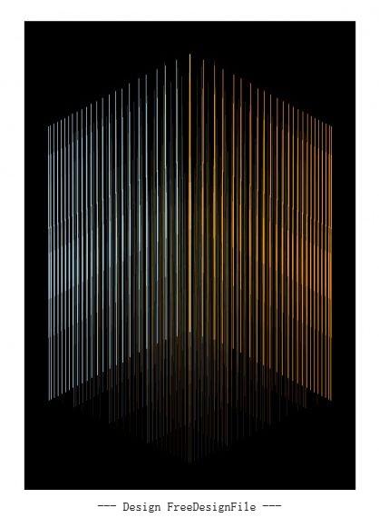 Technology vertical lines dark background vector