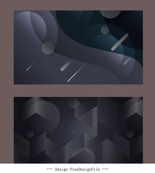 Technology backgrounds modern dark abstract geometric vector