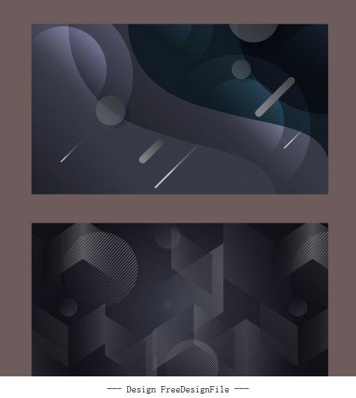 Technology backgrounds modern dark abstract geometric vector