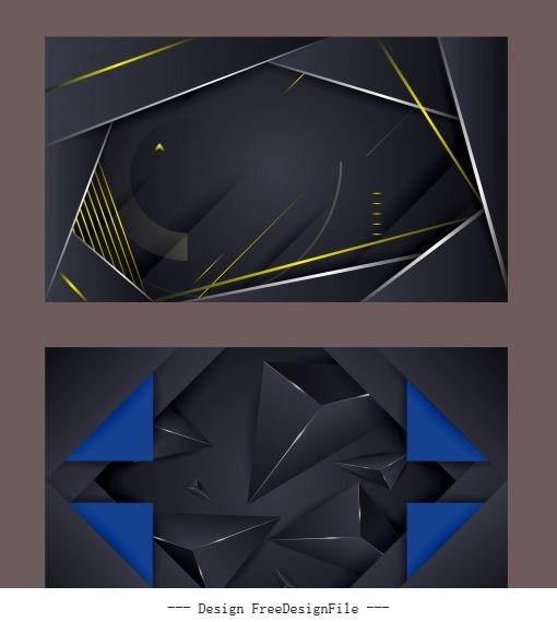 Technology backgrounds modern dark technology set vector