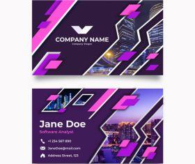 Template design business card vector