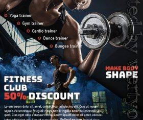 The Gym Fitness Flyer PSD Template