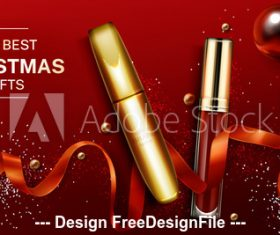 The best christmas gifts advertising poster vector