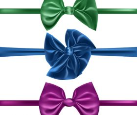 Three colors ribbon vector